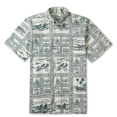 Reyn Spooner Catalina Seaplanes Hawaiian Shirt in NATURAL