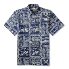 Reyn Spooner Catalina Seaplanes Hawaiian Shirt in NAVY