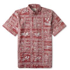 Reyn Spooner Catalina Seaplanes Hawaiian Shirt in CRIMSON