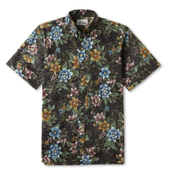 Reyn Spooner Isle Oasis Hawaiian Shirt in CHARCOAL