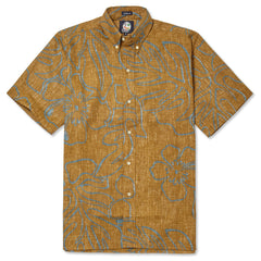 Reyn Spooner Monstera Ink Hawaiian Shirt in RUST