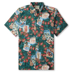 Reyn Spooner Hawaiian Christmas 2017 Classic Fit Shirt in Emerald