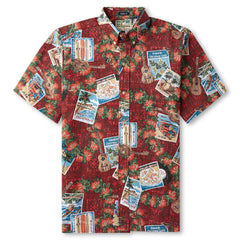 Reyn Spooner Hawaiian Christmas 2017 Classic Fit Shirt in Cranberry