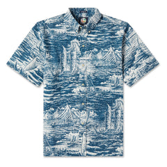 Reyn Spooner Ino Kai Voyager Hawaiian shirt in LAKE blue