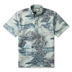 Reyn Spooner Diamond Head Hawaiian Shirt in GREY