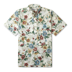 Reyn Spooner Isle Oasis Hawaiian Shirt in NATURAL