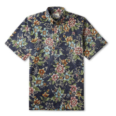 Reyn Spooner Isle Oasis Hawaiian Shirt in INK