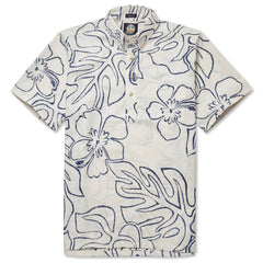 Reyn Spooner Monstera Ink Hawaiian Shirt in NATURAL