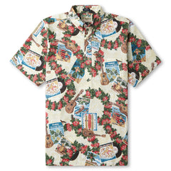 Reyn Spooner Hawaiian Christmas 2017 Classic Fit Shirt in Natural