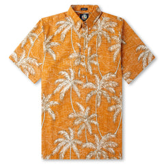 Reyn Spooner Palm Tree printed Hawaiian Shirt in NECTAR