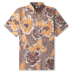 Reyn Spooner Pua Fields Floral Hawaiian Shirt in RUST