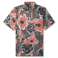 Reyn Spooner Pua Fields Floral Hawaiian Shirt in BLACK