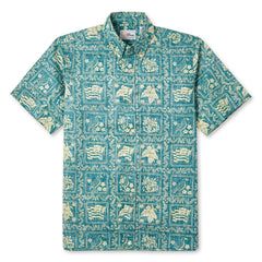 Reyn Spooner Lahaina Sailor Fit Hawaiian Shirt in EMERALD