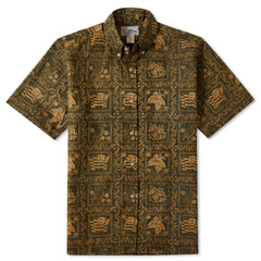 Reyn Spooner Lahaina Sailor Fit Hawaiian Shirt in Army