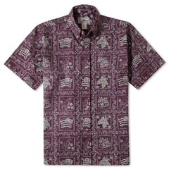 Reyn Spooner Lahaina Sailor Fit Hawaiian Shirt in Plum