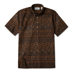Reyn Spooner Sailing Channel Hawaiian Shirt in RUST