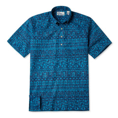 Reyn Spooner Sailing Channel Hawaiian Shirt in TURQUOISE