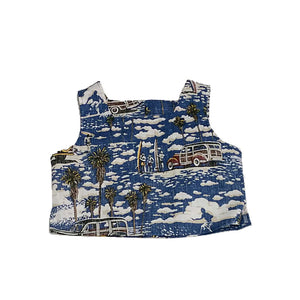 West Coastin Girls Crop Top