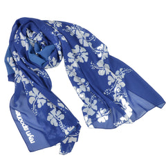 50th State Flower Blue Sarong Scarf