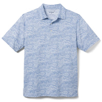 Reyn Spooner Southern Tide Wave Performance Polo in POMPEII BLUE