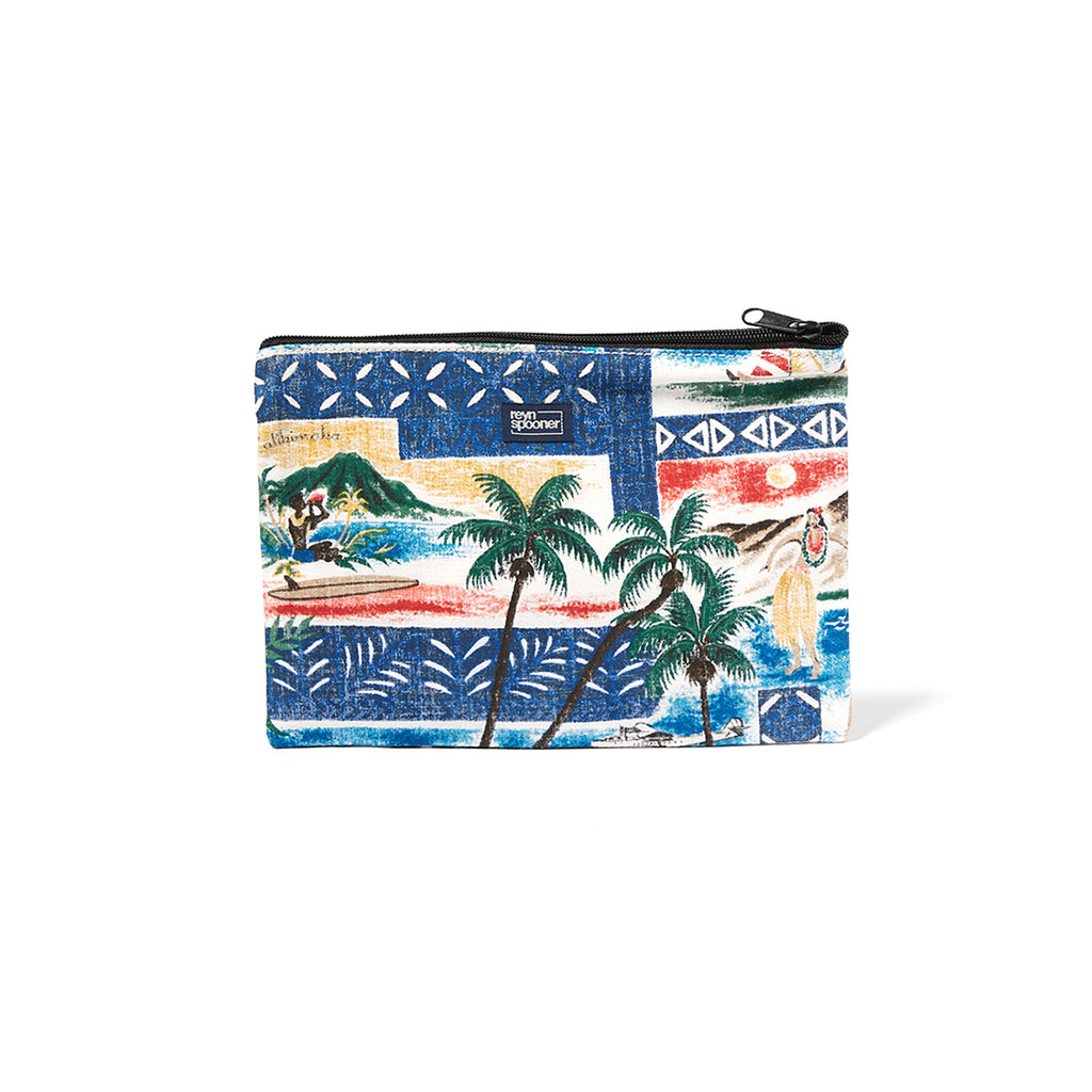Reyn Spooner Hawaiian Christmas Cosmetic Pouch in ROYAL