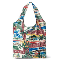 Reyn Spooner Hawaiian Christmas Large Shopping Bag in MAROON