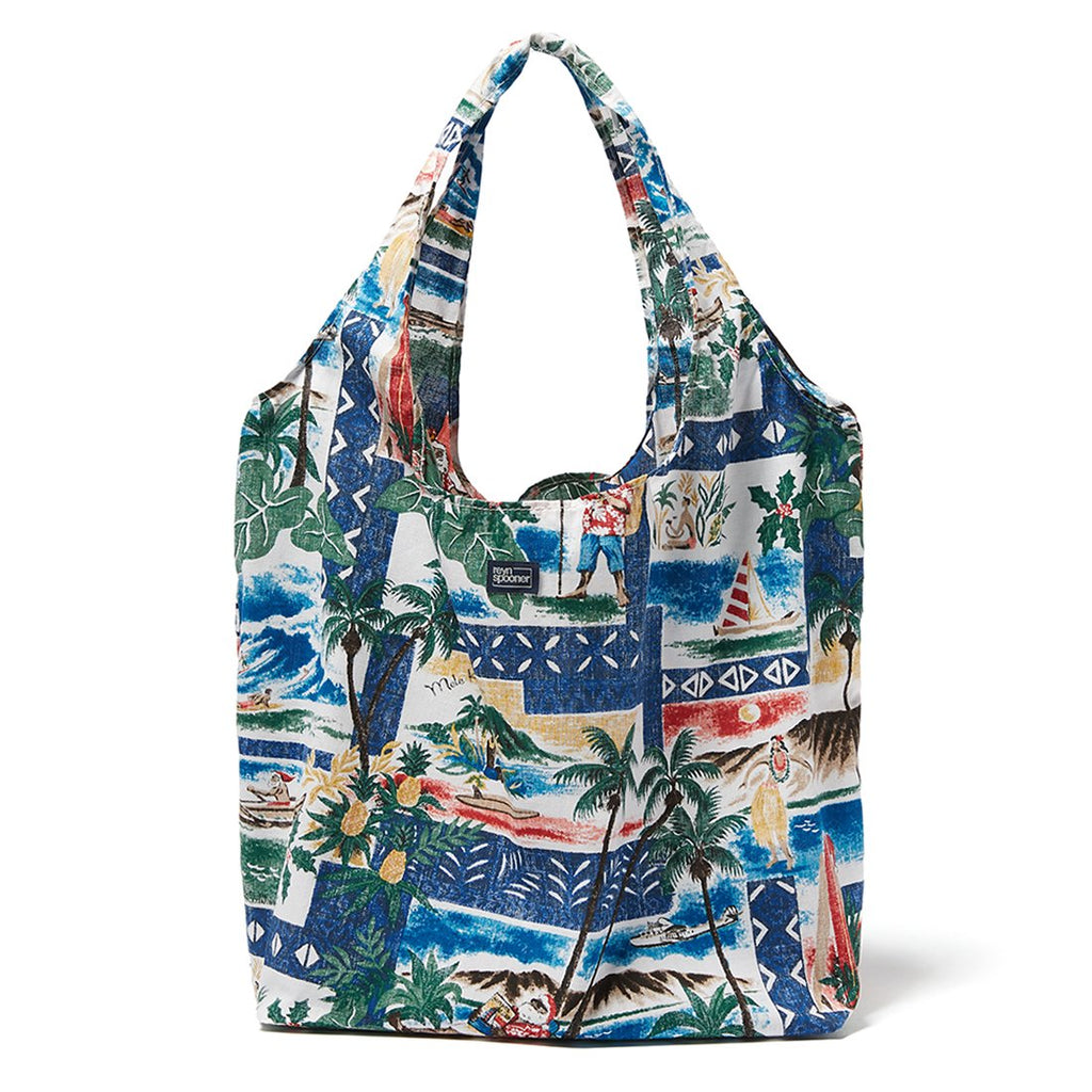 Reyn Spooner Hawaiian Christmas Large Shopping Bag in ROYAL