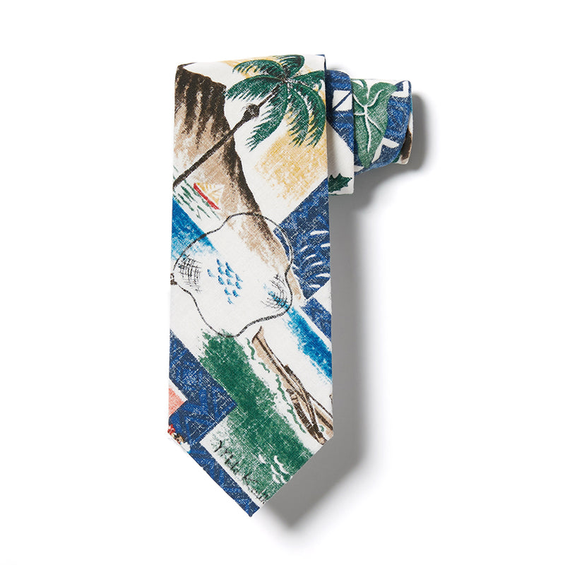 Reyn Spooner Hawaiian Christmas Neck Tie in ROYAL