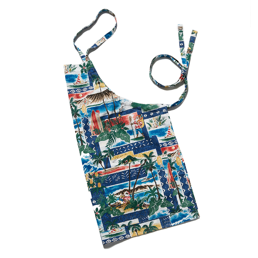 Reyn Spooner Hawaiian Christmas Apron in ROYAL