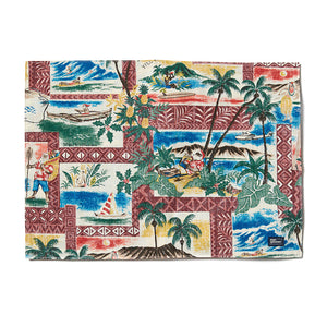 Reyn Spooner Hawaiian Christmas Placemat in MAROON