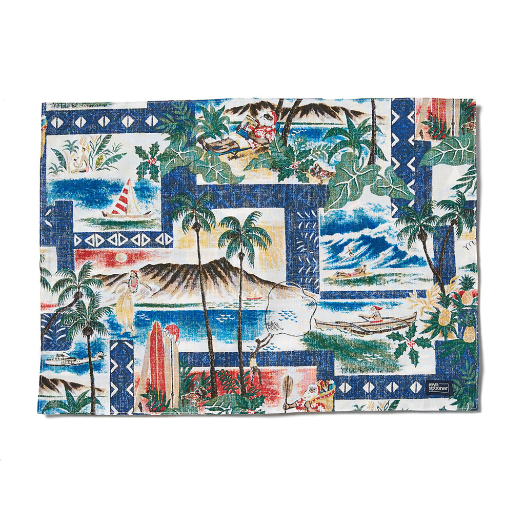 Reyn Spooner Hawaiian Christmas Placemat in ROYAL