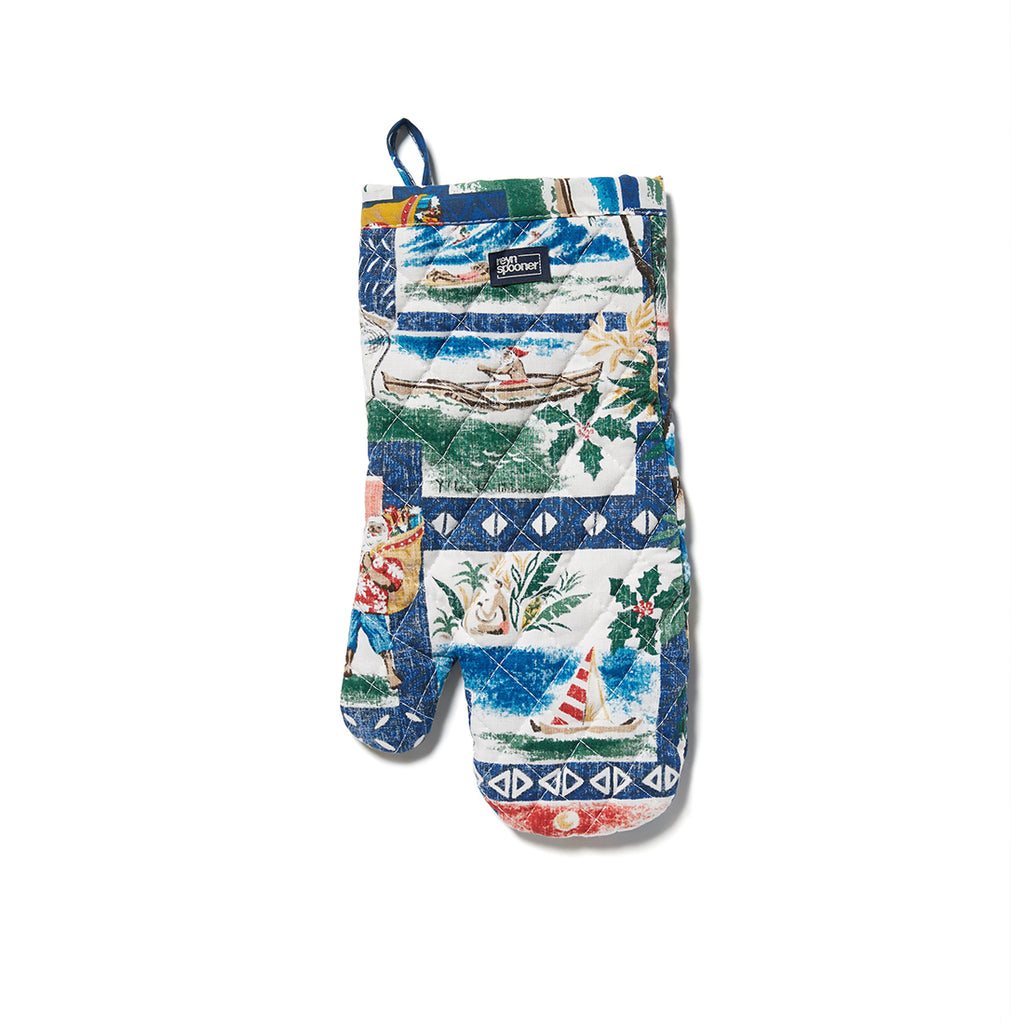 Reyn Spooner Hawaiian Christmas Oven Mitt in ROYAL