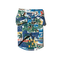Reyn Spooner Hawaiian Christmas Dog Shirt in ROYAL