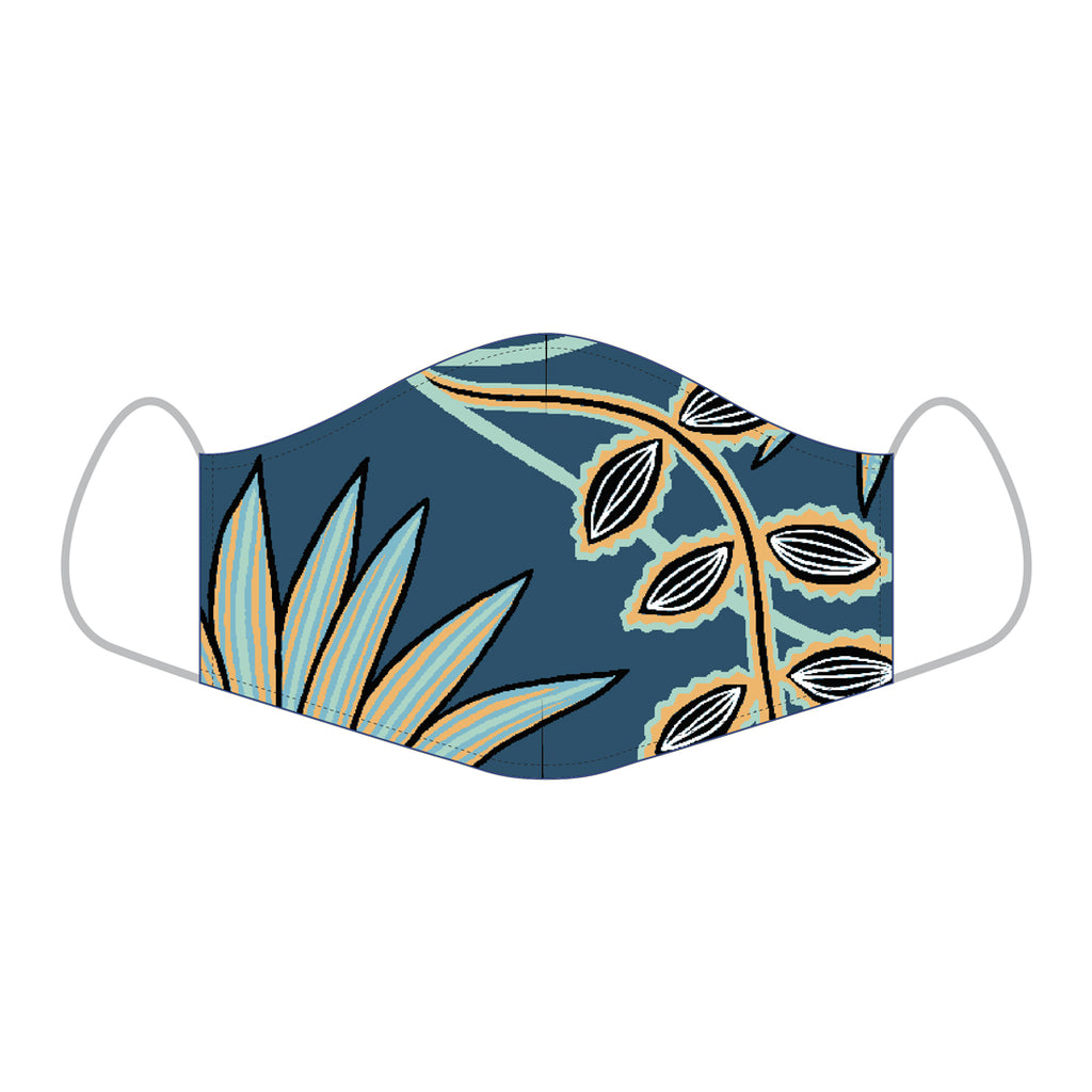 Reyn Spooner ALOHA MASKS in VINE CLIMB MAJOLICA - COTTON REGULAR