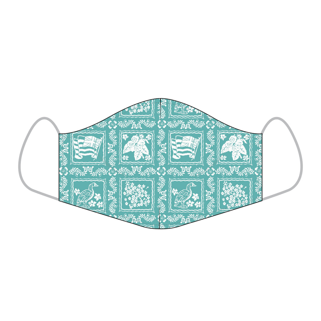 Reyn Spooner ALOHA MASKS in LAHAINA SAILOR MINI BISCAY BAY - COTTON REGULAR