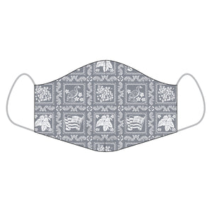Reyn Spooner ALOHA MASKS in LAHAINA SAILOR MINI GREY - COTTON REGULAR
