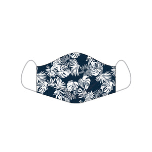 Reyn Spooner FESTIVE FOLIAGE ALOHA MASKS SMALL in DRESS BLUES