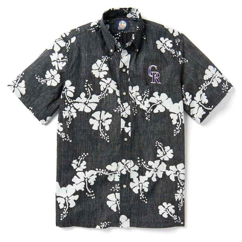 Colorado Rockies Button Front BLACK
