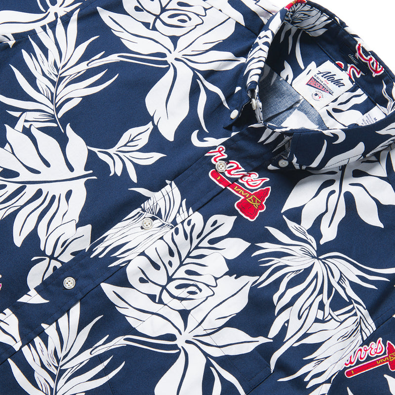 Reyn Spooner ATLANTA BRAVES ALOHA MLB in NAVY