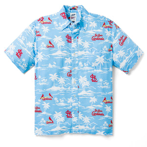 Reyn Spooner ST. LOUIS CARDINALS VINTAGE MLB in LIGHT BLUE