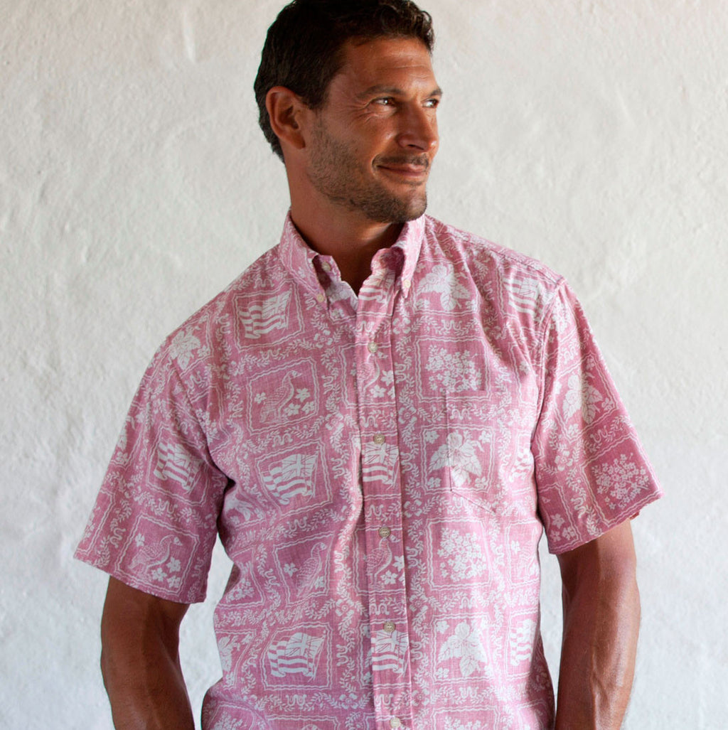 LAHAINA PINK / CLASSIC FIT  BUTTON FRONT