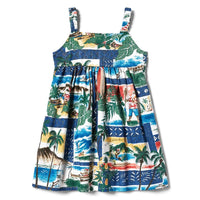 Reyn Spooner Hawaiian Christmas Girls Dress in ROYAL