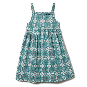 Reyn Spooner Christmas Quilt Girls Dress in MINT