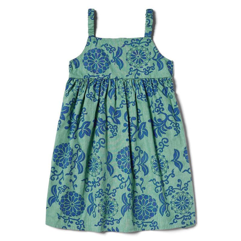 Reyn Spooner Royal Chrysanthemums Girls Dress in MINT