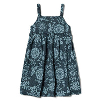 Reyn Spooner Royal Chrysanthemums Girls Dress in NAVY