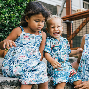 HAWAIIAN CHRISTMAS 2020 TODDLER CABANA SET / Spooner Kloth
