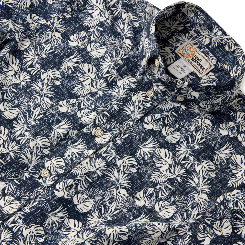 Reyn Spooner FESTIVE FOLIAGE BOYS SHIRT in DRESS BLUES