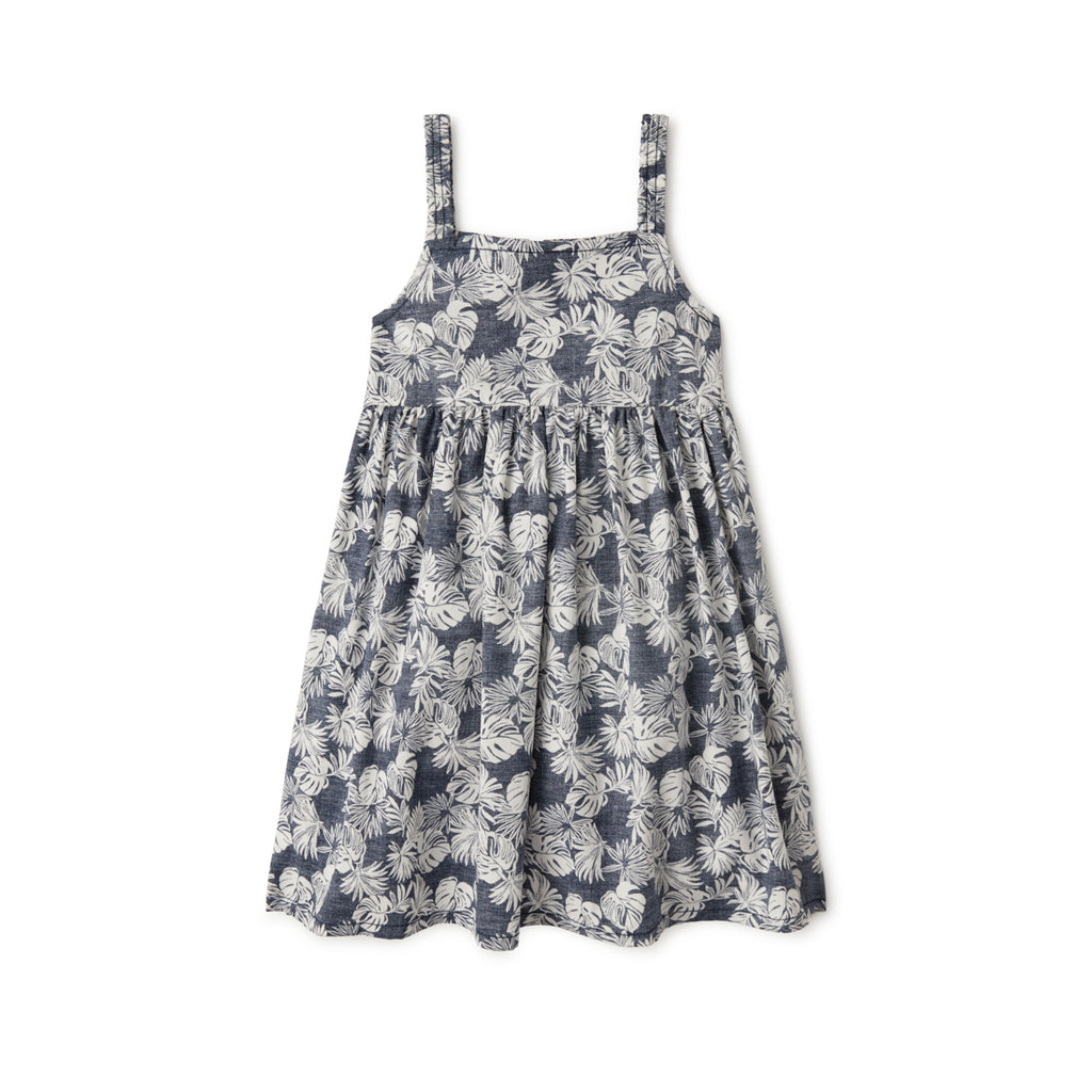 Reyn Spooner FESTIVE FOLIAGE TODDLER SUNDRESS in DRESS BLUES