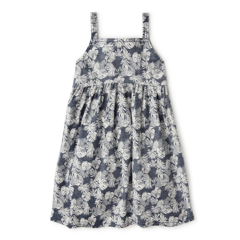 Reyn Spooner FESTIVE FOLIAGE GIRLS SUNDRESS in DRESS BLUES