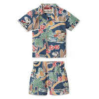 Reyn Spooner PEANUTS IN HAWAII TODDLER CABANA SET in DRESS BLUES